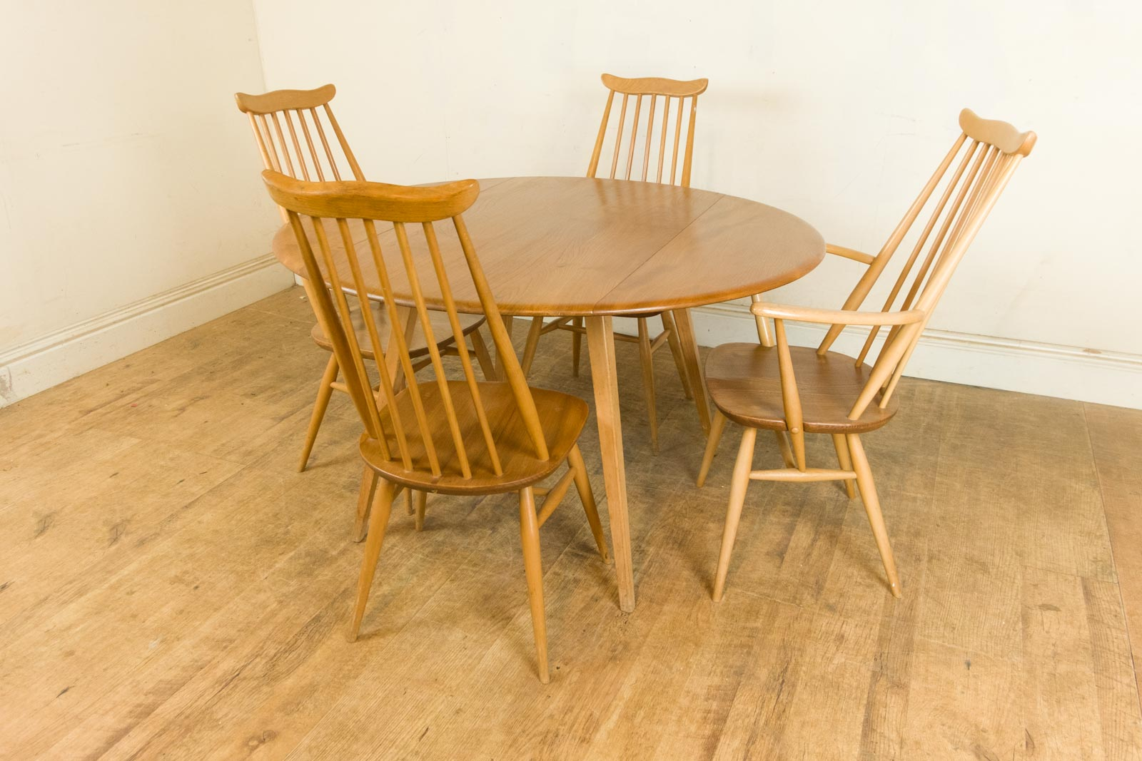 Vintage Retro Ercol Light Elm Drop Leaf Dining Table and 4  : HV160417 4 from www.ebay.co.uk size 1600 x 1067 jpeg 222kB