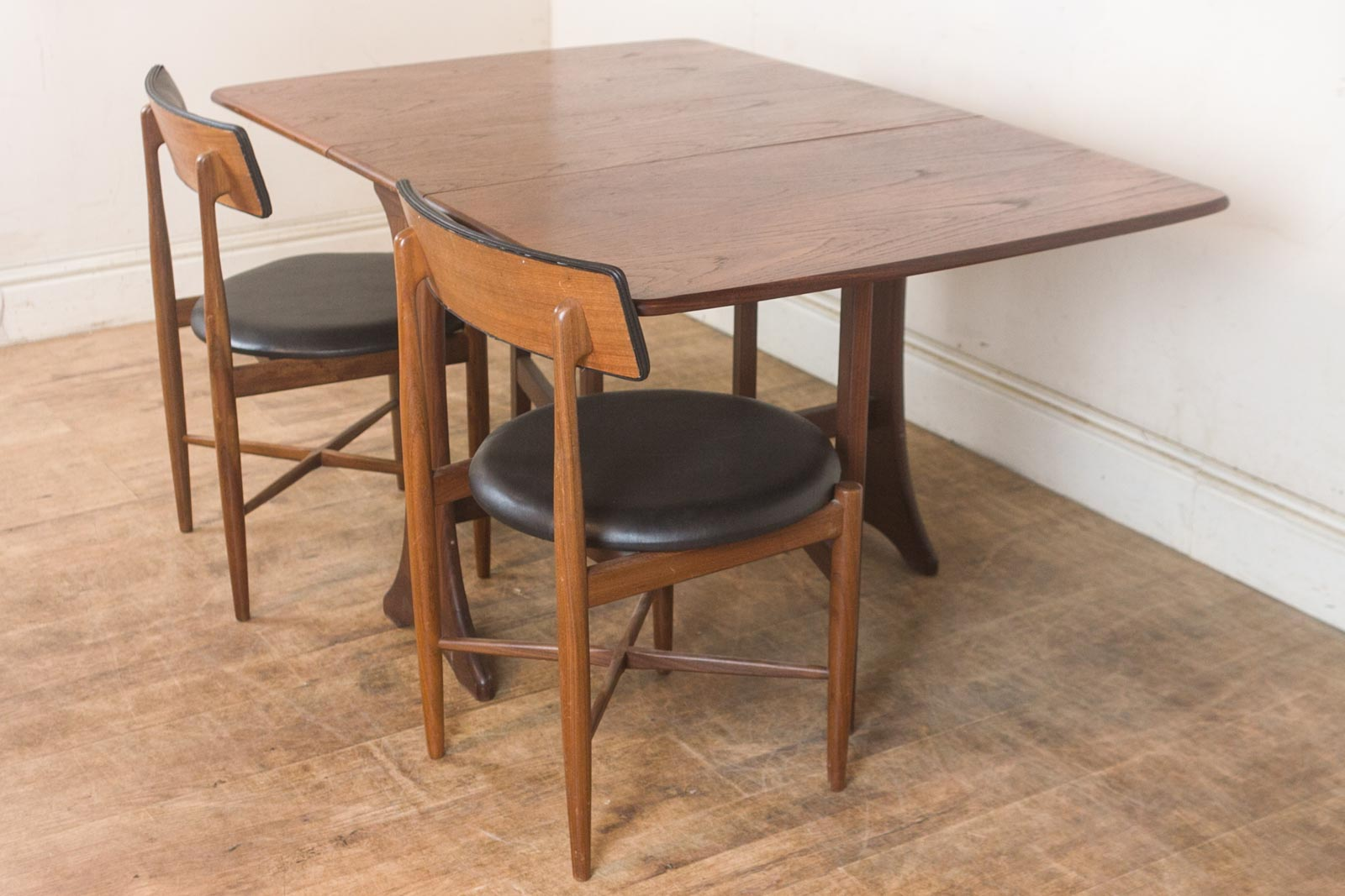 Vintage Retro G Plan Teak Drop Leaf Dining Table And 2 Fresco Chairs EBay