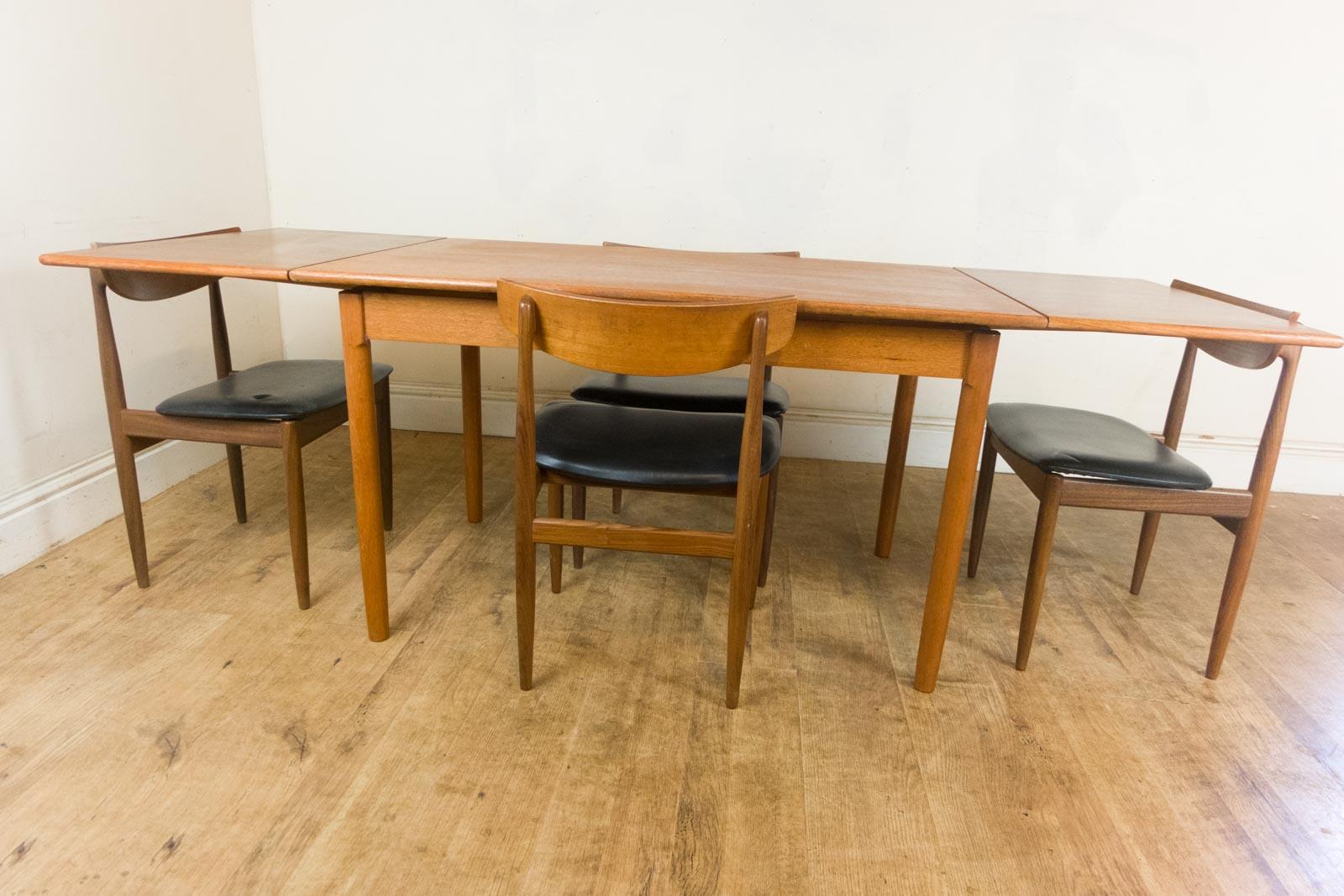 Vintage Retro Teak Extending Dining Table And 4 G Plan