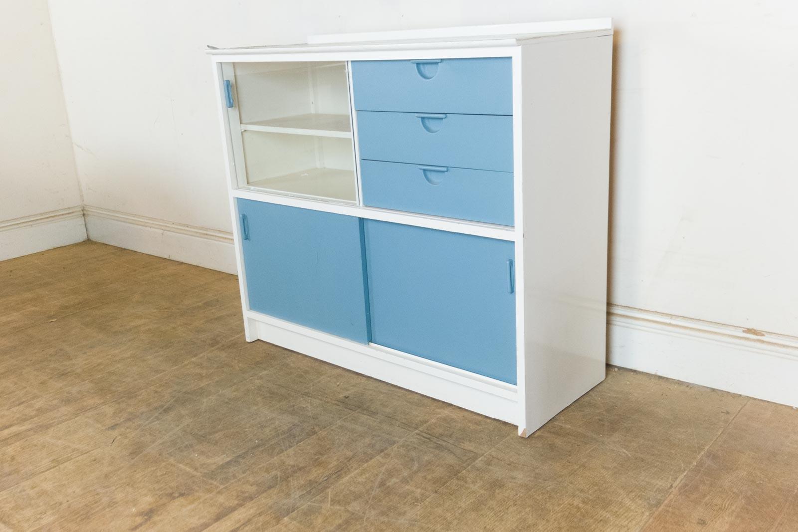 Vintage retro 1950s kandya kitchen drawer unit frank for Vintage kitchen units uk