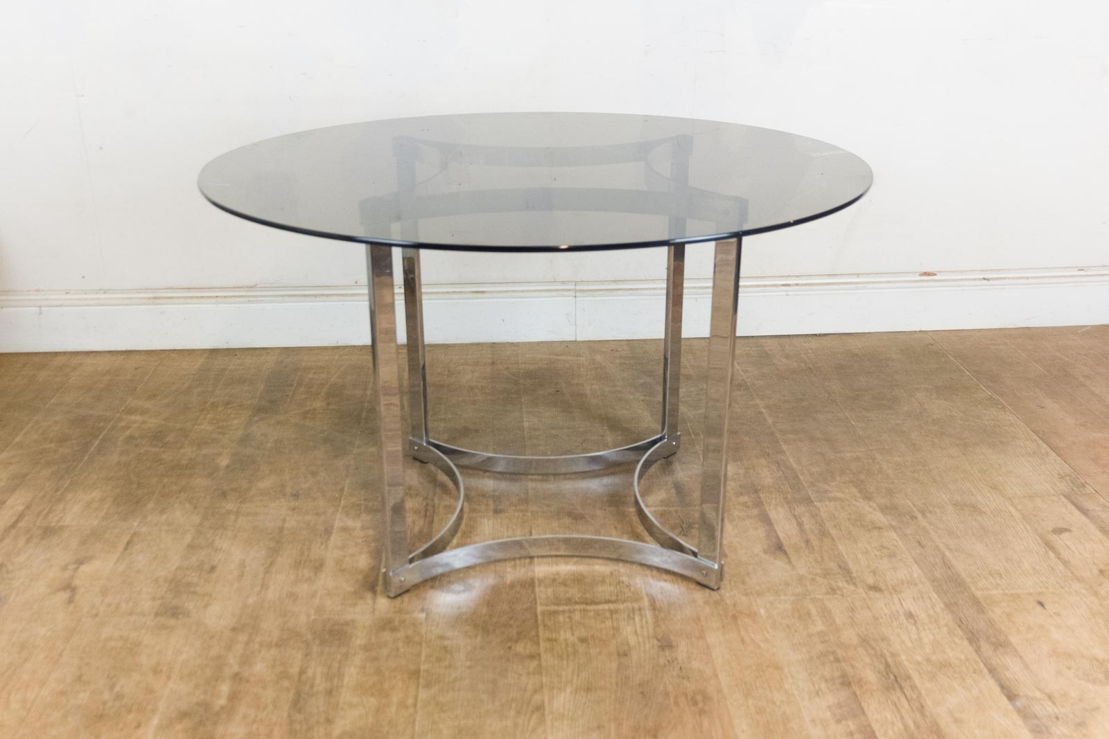 Vintage Retro Merrow Associates Smoked Glass Dining Table And 4 Chairs EBay