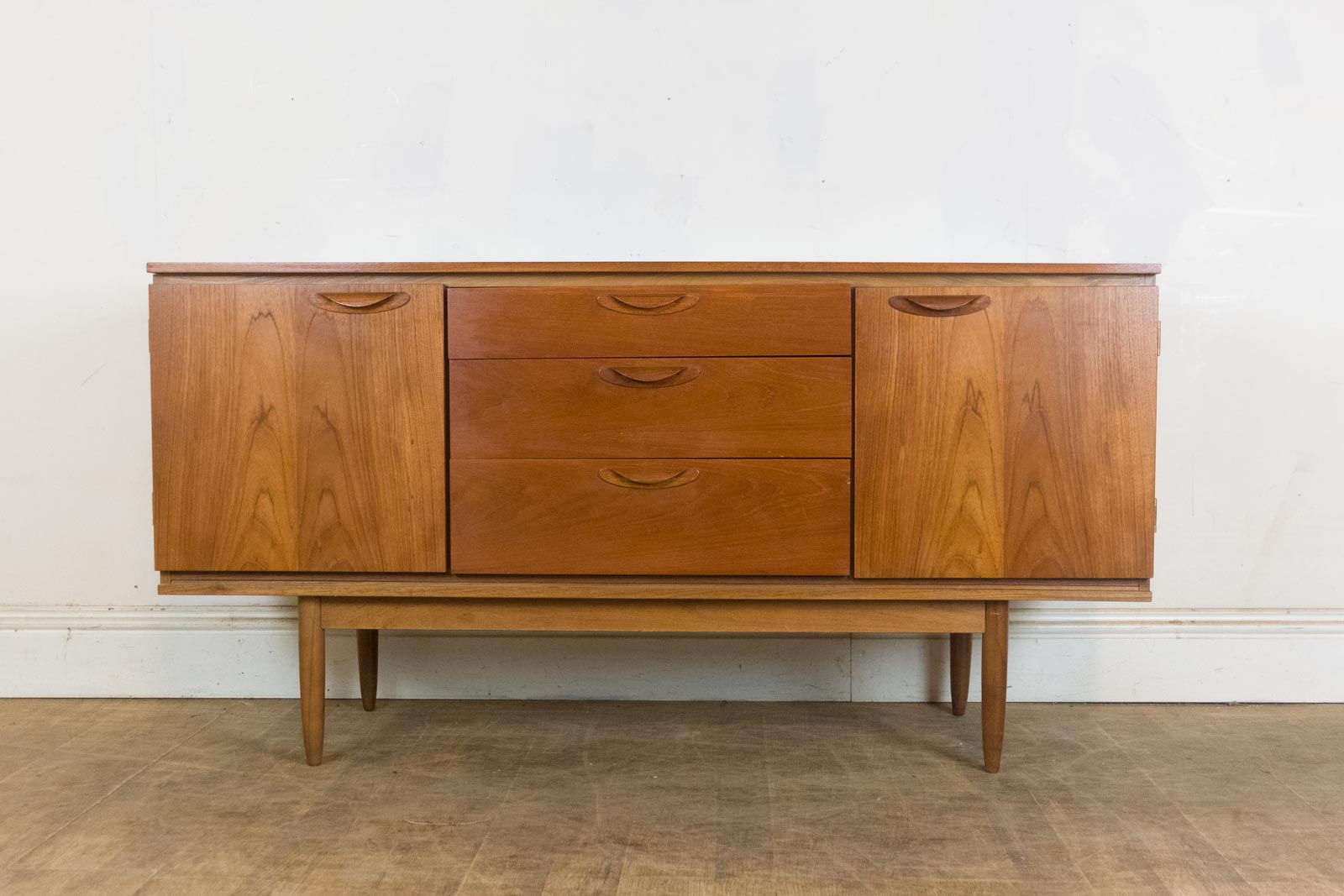 vintage retro small teak mid century sideboard by austin. Black Bedroom Furniture Sets. Home Design Ideas