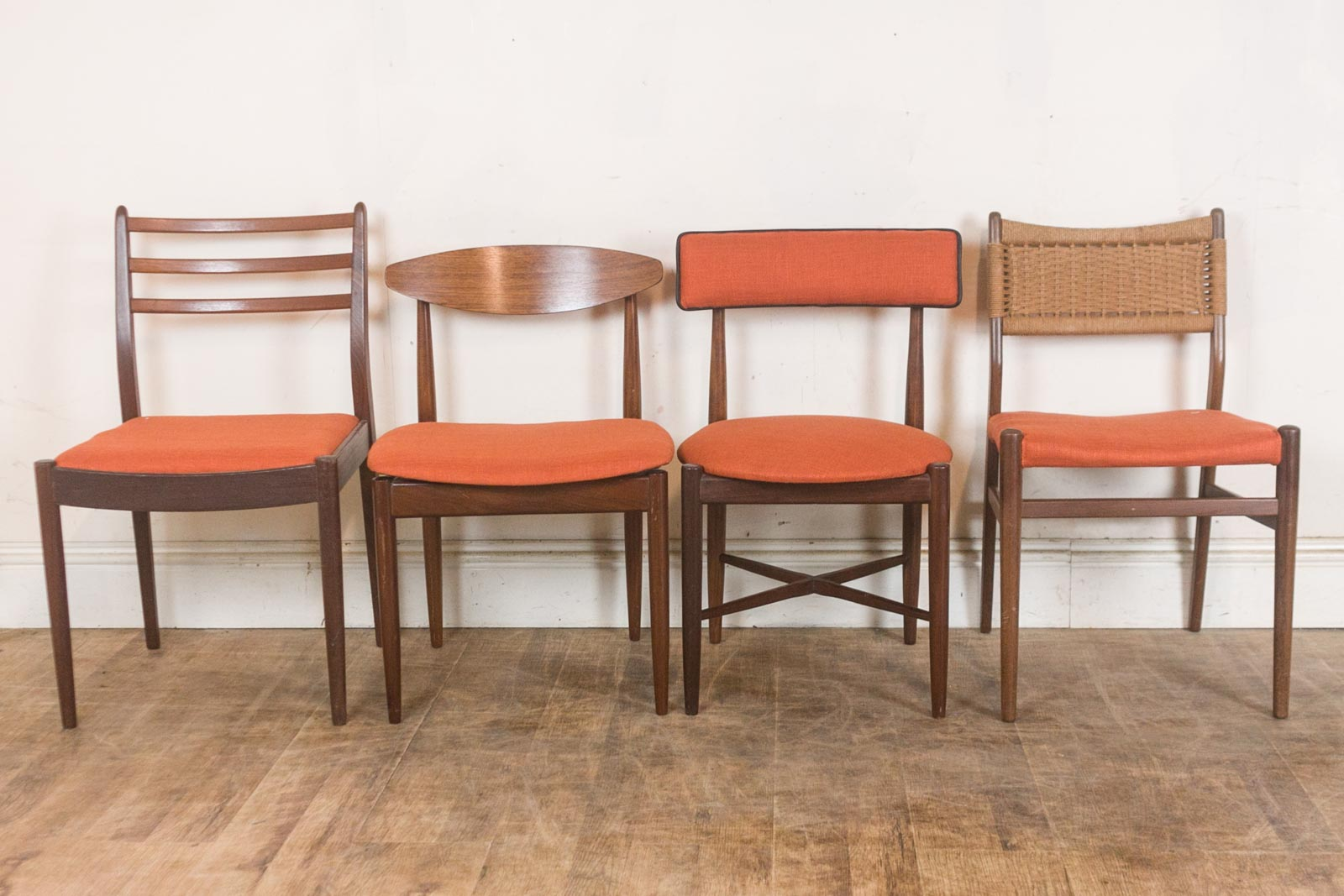 Vintage Retro G Plan Teak Oval Dining Table and 4 Mixed G ...