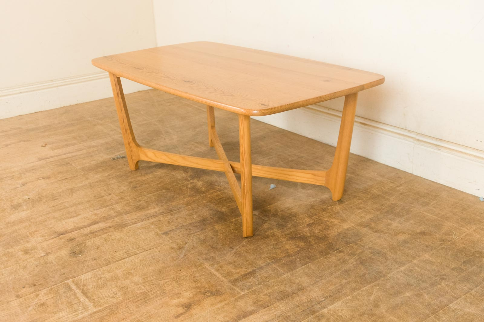 Vintage retro ercol saville rare pine coffee table ebay ercol pine and beech coffee table geotapseo Images