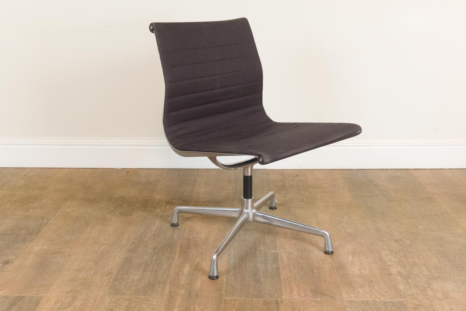 Vitra Chalres Eames : Vintage retro vitra eames ea105 black fabric swivel chair ebay